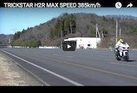 ... 385 km/ h en Kawasaki Ninja H2 (vidéo)