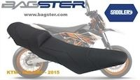 Bagster rend confortable la KTM 690 SMC avec une selle Customize