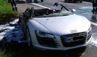 Audi R8: les anneaux de feu
