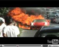 La vidéo du jour : Ferrari F430 on fire !