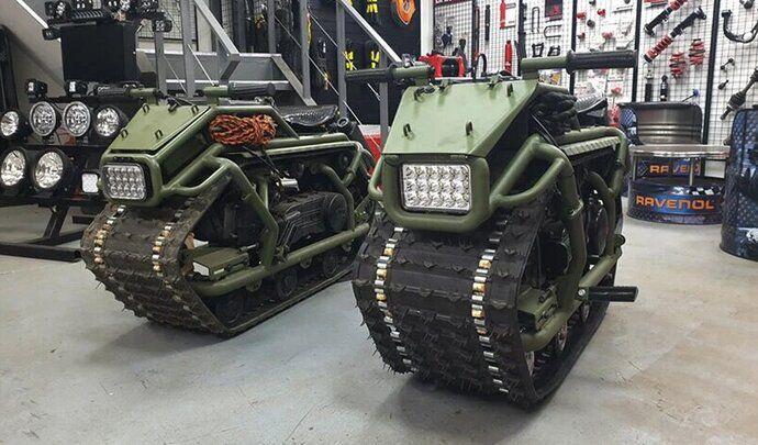 Hamyak, le tank russe qui se prend pour une moto!