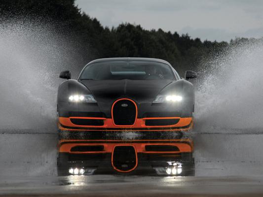 (Minuit chicanes) Chicanes lourdes à négocier: Bugatti Veyron Super Sport 1200 ch/431 km/h, images (Bild.de), constructeurs français-italien-allemand, démocratie participative et passons-en...