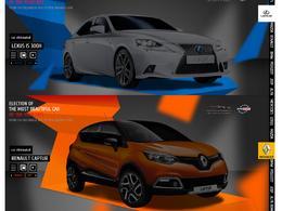 Plus Belle Voiture de l'Année 2013 : le Renault Captur et la Lexus IS300h éliminées