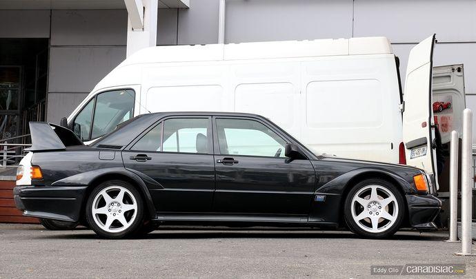 Photos du jour : Mercedes Benz 190E 2.5 Evo2 (Rétromobile)
