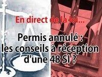 En direct de la loi : des conseils pour une annulation de permis 48 SI