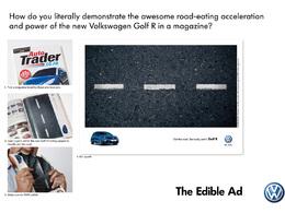 Volkswagen lance une publicité comestible