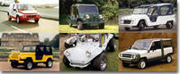 Six voitures de plage pour le fun