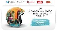 Salon de la moto, du scooter et du quad 2011 : le groupe Piaggio offre 200 invitations