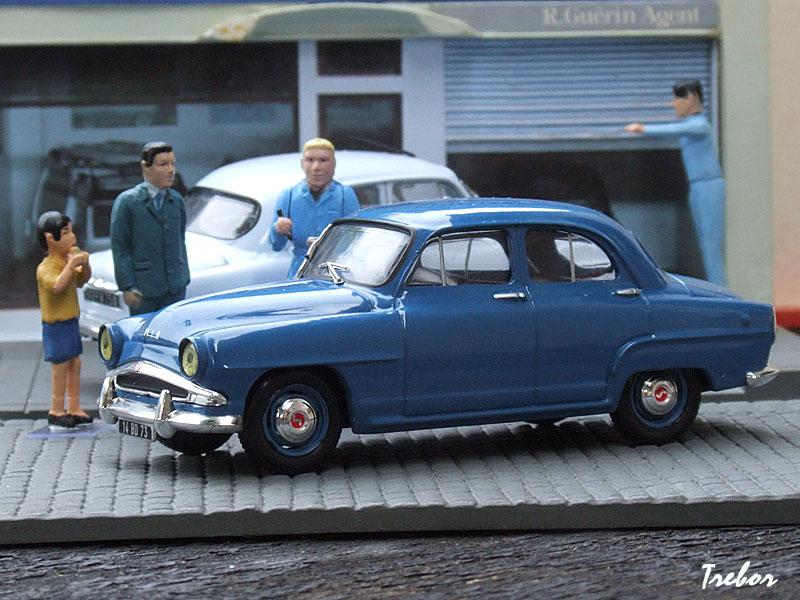 SIMCA ARONDE GRAND LARGE 1956 BLEU IXO ALTAYA