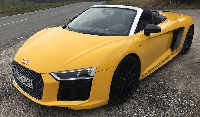 Audi R8 Spyder - les premières images de l'essai en live