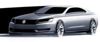 1er sketch officiel de la future berline Volkswagen américaine