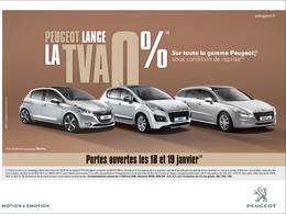Peugeot lance l'opération TVA à 0%