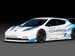 La Nissan Leaf Nismo RC visible en piste durant le week-end des 24 Heures du Mans