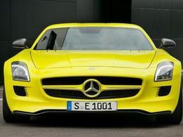 Comme l'Audi R8 E-Tron, la Mercedes SLS AMG E-Cell participera aussi au Silvretta E-Auto Rally