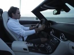 [vidéo] Roger Federer a conduit la Mercedes SLS AMG Roadster