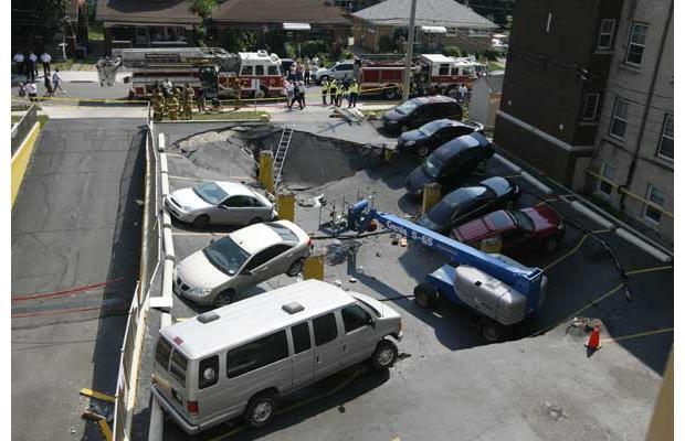 parking seffondre au canada   dun engin de chantier