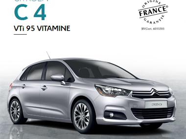 Citroën lance la série Vitamine sur ses C1, C3, C3 Picasso, C4, Berlingo et Nemo