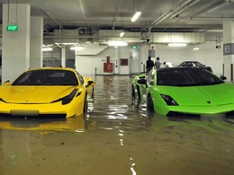 Inondations à Singapour: ces supercars ont bu la tasse