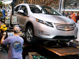 Chevrolet Volt : la production suspendue pendant quatre semaines