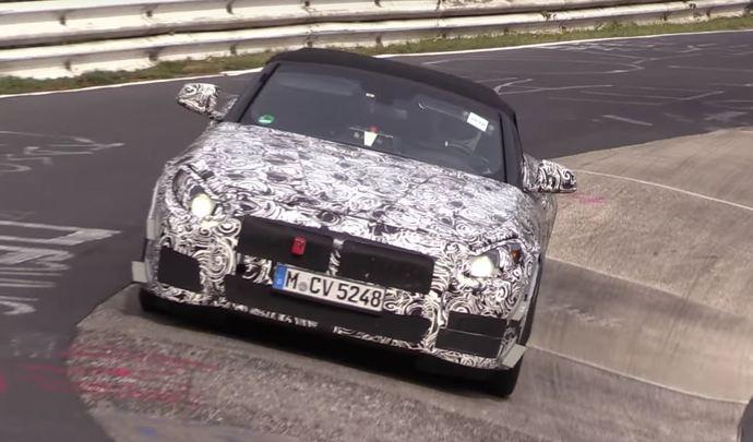 La BMW Z5 à fond sur le Nürburgring