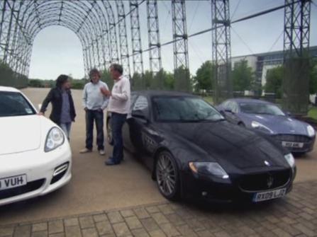 Top Gear : Aston-Martin Rapide vs Porsche Panamera Turbo vs Maserati Quattroporte