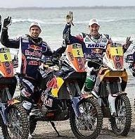 KTM, l'équipe rallye au complet à la plage