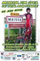 Championnat du monde de trial, c'est demain près de Paris