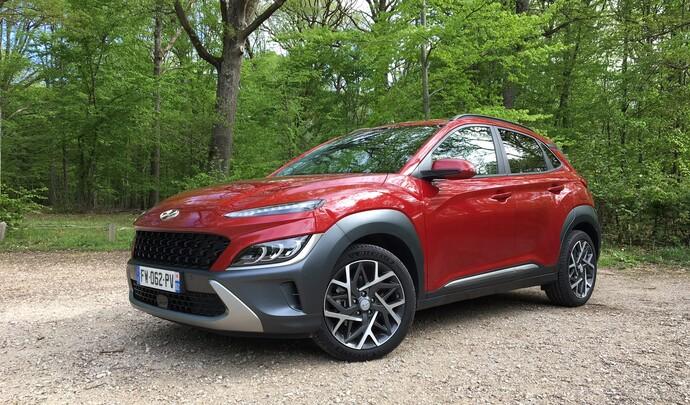 Hyundai Kona Hybrid restylé : les premières images de l'essai en live