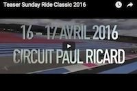Sunday Ride Classic: le teaser 2016