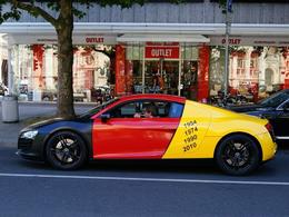 L'Audi R8 risible : il aurait dû écouter le poulpe