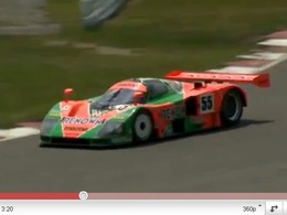 La Mazda 787B se dégourdit les rotors avant son retour au Mans