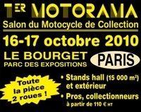 Automedon présente son 1er salon de la moto de collection les 16 et 17 octobre 2010 au Bourget.