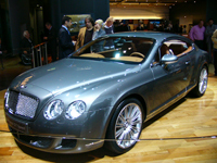 Bentley Continental GT Speed en direct de Francfort