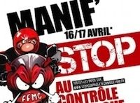 FFMC: Manifestation nationale contre le controle technique 2RM les 16 et 17 avril 2016
