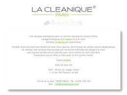 """La Cleanique: """"un nouveau concept de lavage auto respectueux de l'environnement, situé au cœur des joailliers"""""""
