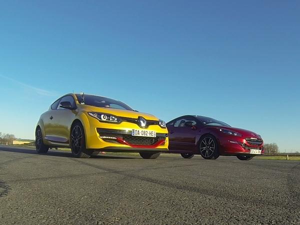 Drag Race Motorsport : Peugeot RCZ R vs Renault Megane R.S