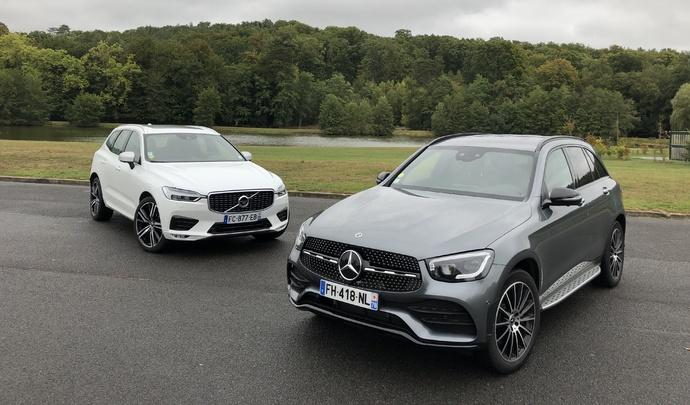 Comparatif vidéo - Mercedes GLC vs Volvo XC60 : les leaders du premium