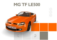 La MG TF LE500 a son site