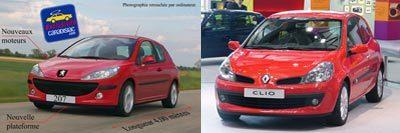 Peugeot 207/Renault Clio III : choc de titans en perspective
