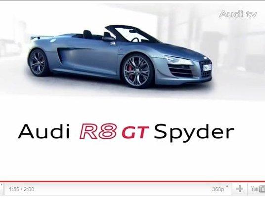L'Audi R8 GT Spyder en vidéo