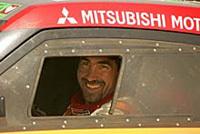 Luc Alphand est en passe de remporter le rallye Por Las Pampas