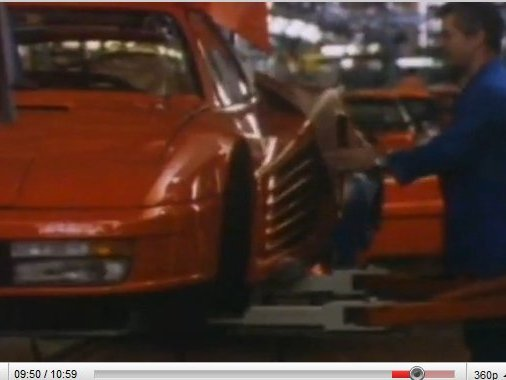 [vidéo] pure 80's : making of Ferrari