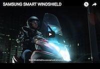 Yamaha/ Samsung: bientôt un pare-brise connecté? (vidéo)