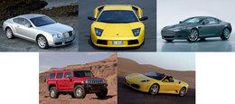 5 voitures de rêve sur Caradisiac
