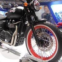 En direct du Salon de la moto: Par la Bonneville Triumph a marqué !