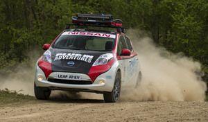 Insolite : une Nissan Leaf préparée pour le rallye de Mongolie