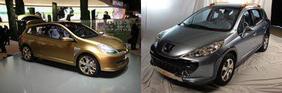 Peugeot 207 SW Outdoor vs Renault Clio Grand Tour