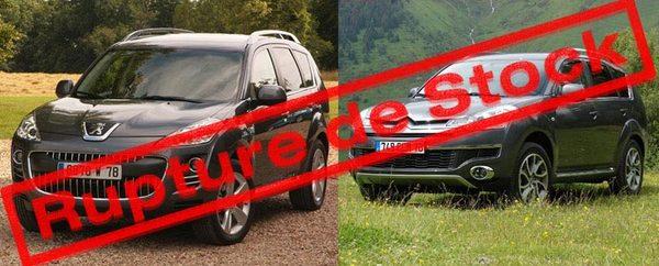 Peugeot 4007/Citroën C-Crosser : Jusqu'à 9 mois d'attente