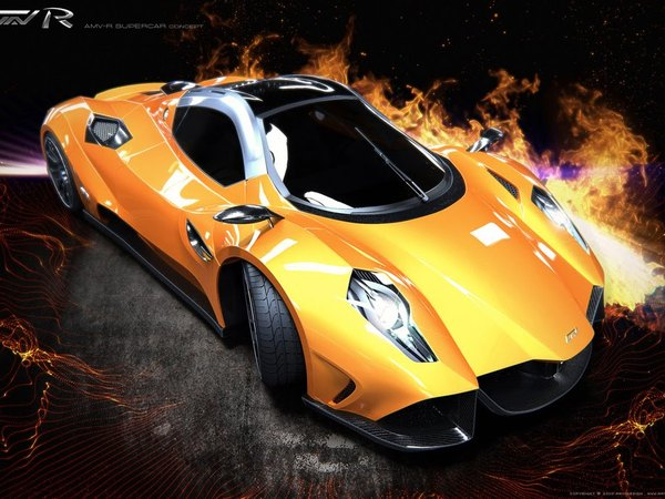 [design] AMV-R Supercar par Alexei Mikhailov : synthétique