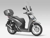 Honda SH 125 cm3 2013 : les tarifs des accessoires